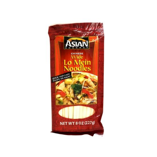 Asian Gourmet Chinese Wide Lo Mein Noodles