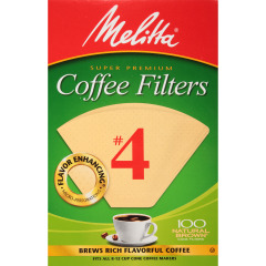 Melitta #4 Natural Brown Coffee Filters - Box of 100