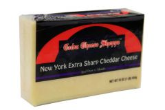 Cuba Extra Sharp White Cheddar Cheese (8-9 oz Piece)