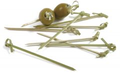 "Norpro 4.5""  Bamboo Knot Picks 50Ct # 191"