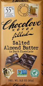 Chocolove Filled Salted Almond Butter Dark Chocolate Bar