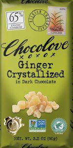Chocolove Crystallized Ginger Dark Chocolate Bar