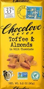 Chocolove Toffee & Almond Milk Chocolate Bar
