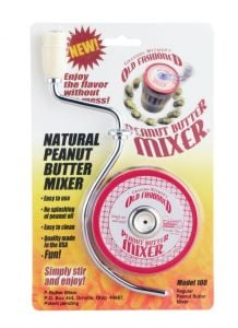"""Harold Imports Natural Peanut Butter Mixer for Jars w/openings up to 3"""""""