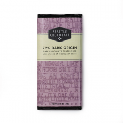 Seattle Chocolate 72% Dark Chocolate Truffle Bar