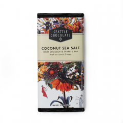 Seattle Chocolate Coconut Sea Salt Dark Chocolate Truffle Bar