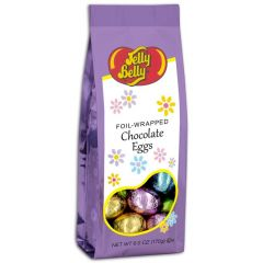 Jelly Belly Foil-Wrapped Chocolate Eggs 6 OZ Bag