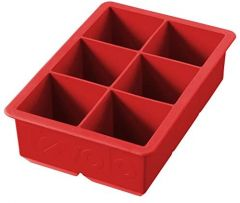 Tovolo King Cube Silicone Ice Cube Tray - Candy Apple Red