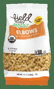 Field Day Organic Gluten Free Elbows - 12 oz Bag