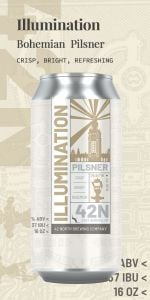 42 North Illumination Bohemian Pilsner / 4-pack cans