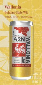 42 North Wallonia Wit / 4-pack cans
