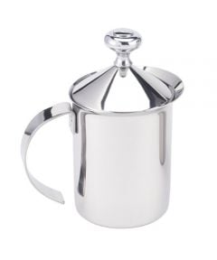 Harold Imports Stainless Steel Milk Frother 14oz