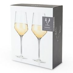 Raye Crystal Chardonnay Glasses ( Set Of 2 ) By Viski