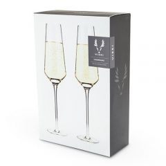 Raye Crystal Champagne Flutes ( set Of 2) By Viski