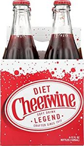 Cheerwine Diet Soda 4 Pk