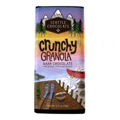 Seattle Chocolate Crunchy Granola Dark Chocolate Truffle Bar