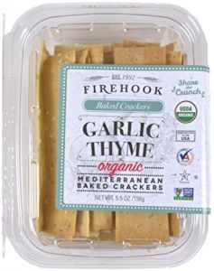 Firehook Garlic Thyme Crackers