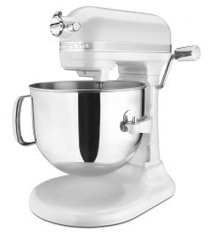 Kitchen Aid 7Qt 1.3HP Pro Line Stand Mixer Frosted Pearl White