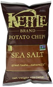 Kettle Sea Salt Potato Chips - 5 oz Bag