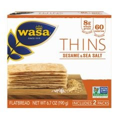 Wasa Thins Sesame Sea Salt - 6.7 oz Package
