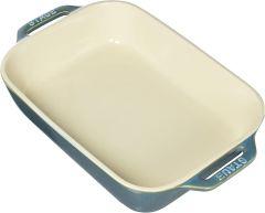 "Staub 10.5""x7.5"" Rectangular Baking Dish - Turquoise"