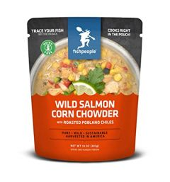Fishpeople Wild Salmon Corn Chowder with Roasted Poblano Chile