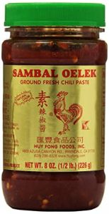 Huy Fong Sambal Oelek Gorund Fresh Chili Paste 8 Oz.