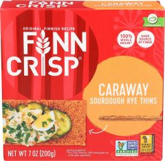 Finn Crisp Sourdough Caraway Rye Thins - 7 oz Box