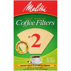 Melitta #2 Natural Brown Coffee Filters - Box of 100