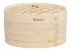 Helen's Asian Kitchen 12-Inch Bamboo Steamer 3-Piece Set
