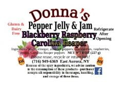 Donna's Pepper Jelly & Jam Black Raspberry Carolina Reaper