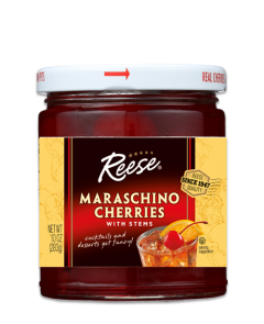 Reese Maraschino Cherries with Stems - 10 oz Jar