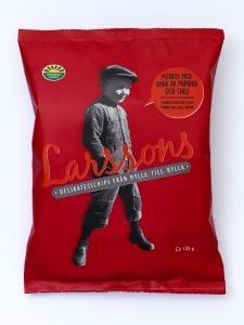 Larsson's Paprika & Chili Pepper Potato Chips - 4.41 oz Bag