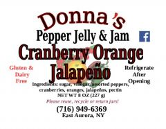 Donna's Pepper Jelly & Jam Cranberry Orange Jalapeño