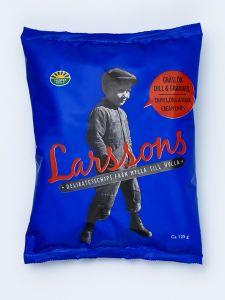 Larsson's Chives, Dill & Sour Cream Potato Chips - 4.41 oz Bag