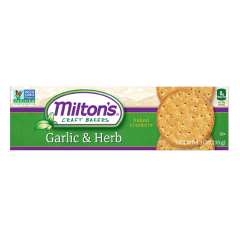 Milton's Gourmet Roasted Garlic & Herb Crackers