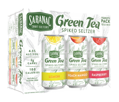 Saranac Green Tea Seltzer / 12 Pack of Cans