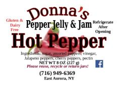 Donna's Pepper Jelly & Jam Hot Pepper