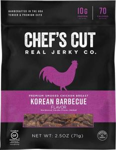 Chef's Cut Korean Barbeque Chicken Jerky - 2.5 oz Bag