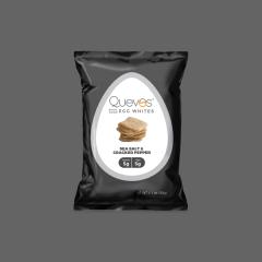 Quevos Sea Salt & Black Pepper Egg White Crisps - 1.1 oz Bag