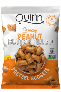 Quinn Creamy Peanut Butter Filled Pretzel Nuggets - 7 oz Bag