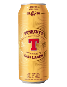 Tennent's Lager / 4-pack cans