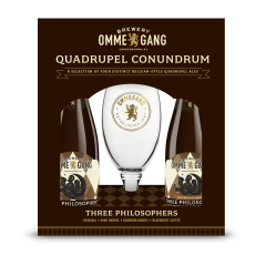 Ommegang Quadrupel Conundrum Gift Set / 4-pack bottles + glass
