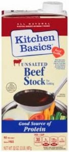 Kitchen Basics Unsalted Beef Stock 32 oz