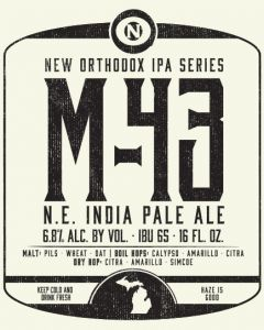 Old Nation Brewing Co. M-43 N.E. India Pale Ale / 4-pack cans