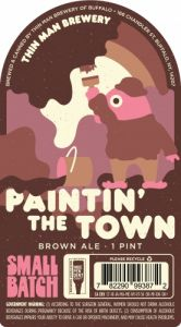 Thin Man Paintin' The Town Brown Ale / 4 Pack of Cans