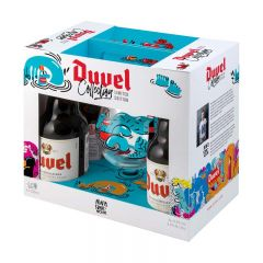 Duvel Gift Set / 4-pack bottles + glass