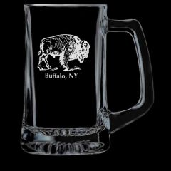 Elegance Confections Buffalo Etched Beer Stein