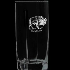 Elegance Confections Buffalo Etched Beverage Glass