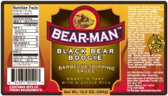 Bear Man Black Bear Boogie Barbecue Sauce